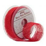 RED DECO WEB RIBBON RI7363